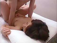 Japanese young beautiful short hair female college student